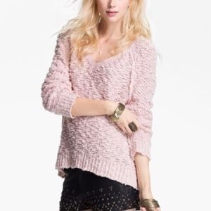 Free people songbird pink oversized sweater small